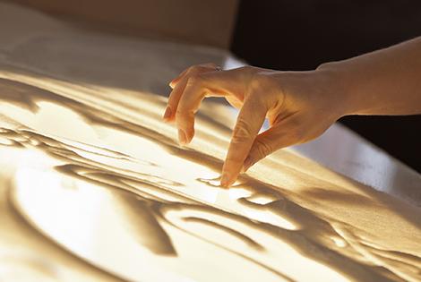 рисование песком на стекле для детей